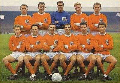 Fridge Magnet Football Blackpool 1963-64 BFC 7cm x 4.5cm Soccer Sports Bespoked