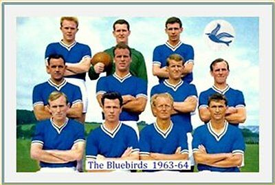 Fridge Magnet Football Cardiff City 1963-64 7 x 4.5cm Bluebirds Soccer Bespoked