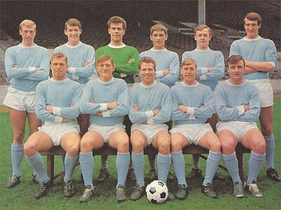 Fridge Magnet Football Manchester City 1965-66 Soccer 7 x 4.5cm Sport Bespoked