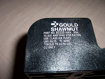 3 Pole Gould Fuse Holder part # 60328 - 600 volt - 30 amp