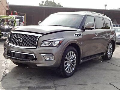 2016 Infiniti QX80 4WD 2016 Infiniti QX80 4WD Salvage Rebuilder Perfect Project Loaded!! Only 4K Miles!