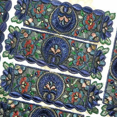 Antique HAND EMBROIDERED Appliques