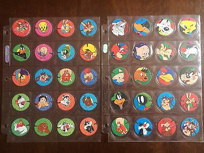 Full Set of 40 Techno Tazos Looney Tunes 101-140 Vintage collectable 1995
