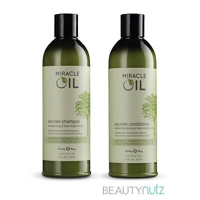 Earthly Body Miracle Oil Shampoo and Conditioner 16 oz Set