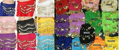 Adult Belly Dancing Dance Coin Belt Wrist Band Ankle Band