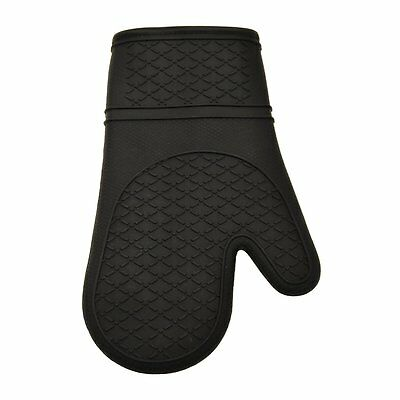 Gourmet by Starfrit 80238 Silicone Oven Mitt, 12-Inch-Black