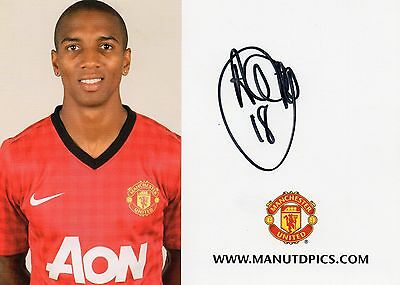 Authentic Signed Ashley Young Manchester United Club Card... Real Signature..coa