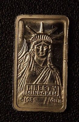 1 gram Platinum Bar Liberty  #Pt-1