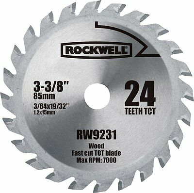 Rockwell RW9231 3-3/8-Inch VersaCut 3 24T Carbide-Tipped Circular Saw Blade