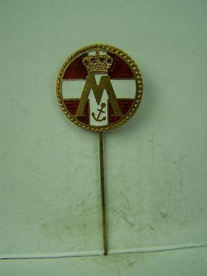 Danish Queen Margrithe enamelled stick pin         820