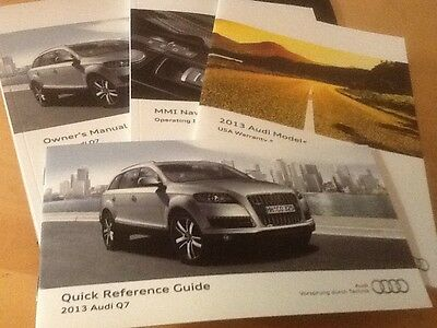 2013 Audi Q7 , Owners Manuals and cover , nice set !