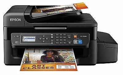 Epson Workforce Et-4500 Wireless Color All-In-One Mfp Printer As New Rrp $750