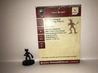 Twig Blight #58 War of the Dragon Queen D&D Miniatures With Card