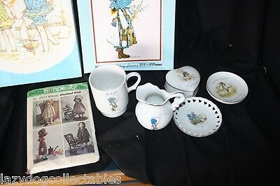 Bulk lot of Holly Hobbie Collectibles Ceramics doll jigsaw cup