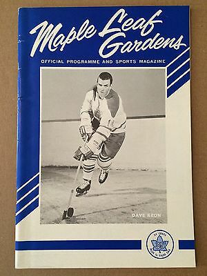 1964 Toronto Maple Leafs Stanley Cup Final Game Program  (Dave Keon cover) Mint