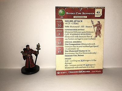 Bonded Fire Summoner #10 War of the Dragon Queen D&D Miniatures With Card