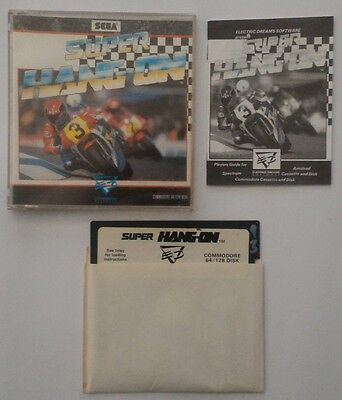 Super Hang On Commodore 64 C64 128 Disk Floppy Game
