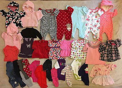 33 Piece Lot Baby Girl Clothes **** Size 3 Months **** WINTER SPRING