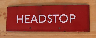 London Transport Enamel G Plate Headstop