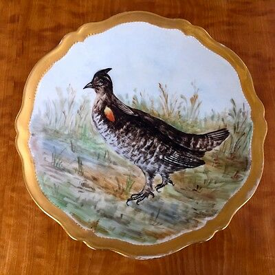 Austrian Hand Painted Game Plate
