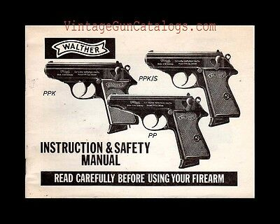 """1987 Interarms/Walther """"""""PPK-PPK/S-PP"""" Instruction Manual Pistol .32 .380 .22"""