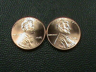UNITED STATES   1 cent   2016  P & D   BRILLIANT UNCIRCULATED   ( TWO  COINS )
