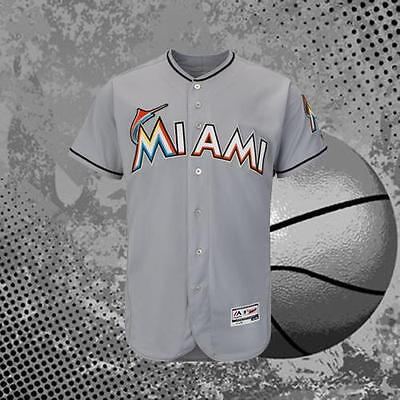 Men's Blank Miami Marlins Gray All Size Blank New Baseball Jersey Marlins