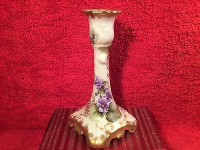 Antique Hand Painted Jean Pouyat Limoges France Candlestick Candle Holder c1891