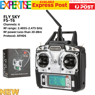 2.4GHz 6CH Flysky Transmitter Receiver FS-T6-RB6 RC Helicopter System Radio