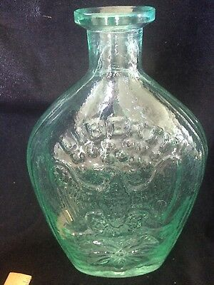 Vintage Early American Style Green Liberty Eagle Glass Bottle, circa 1970's