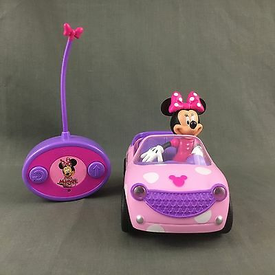 Disney Minnie Mouse Light Pink White Polka Dot Remote Controlled Car Jada Toys
