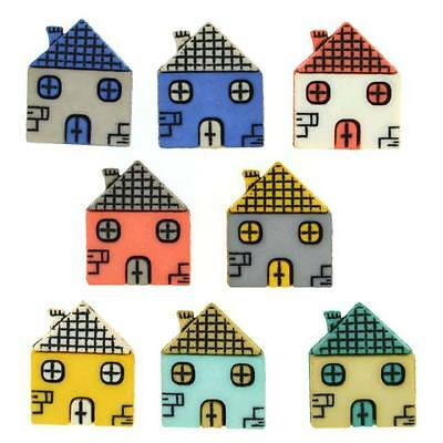 Dress it Up Buttons - Houses (980)
