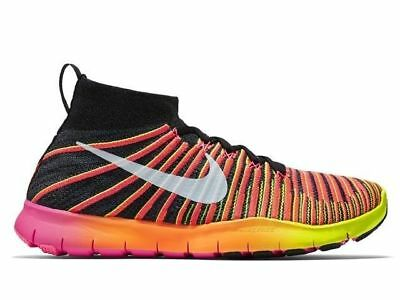 NEW NIKE MENS FREE TRAIN FORCE FLYKNIT SIZES 10-14  PURPLE ORANGE 833275-500