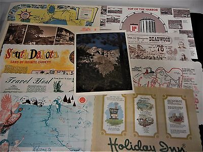 Vintage Lot Of 10 Restaurant Paper Placemats Usa Canada Hawaii Place Mats