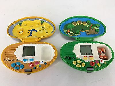 Vintage Tiger - Neopets - LCD Handheld / Electronic Virtual Pets Lot x 2 WORKING
