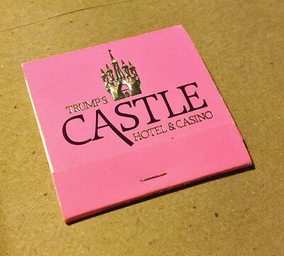 Trump Castle Atlantic City Hotel & Casino Matchbook Mint Not Used Hot Pink