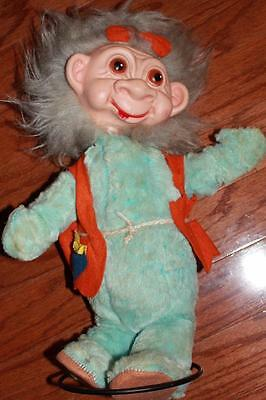 VINTAGE 60s TIMELY TOYS NEANDERTHAL TROLL DOLL 1960s W/ METAL STAND RARE HTF
