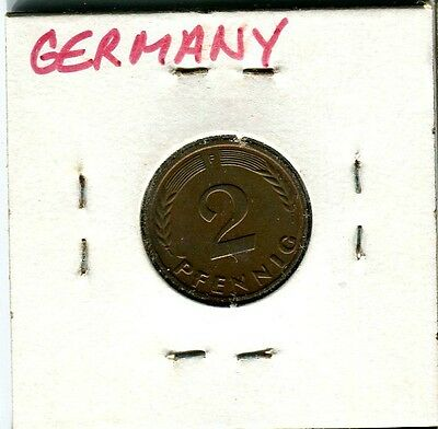 1964 Germany 2 Two Pfennig Coin