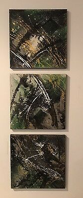 Modern Contemporary Abstract Oil Painting Canvas Set From German Artist
