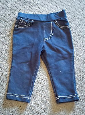 Baby girl stretch jeans leggings – size 00 – VGUC