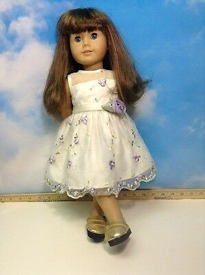 American Girl  Doll Brown Hair Blue Eyes (6)