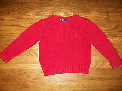 Polo Ralph Lauren Boys Red Sweater Size 4 4T