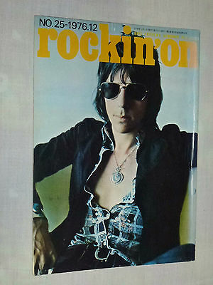 rockin'on Japan magazine 12/1976 ! JEFF BECK Zeppelin BLACKMORE WISHBONE ASH