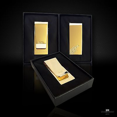 18Ct Gold Plated Stainless Steel Money Clip in Gift Box - Brand New Top Quality