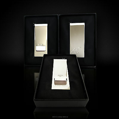 Sterling Silver Plated Stainless Steel Money Clip in Gift Box - by LOUBAL-REICH