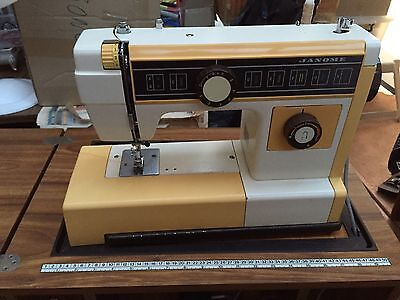 Janome Portable Sewing Machine With Cabinet & Case