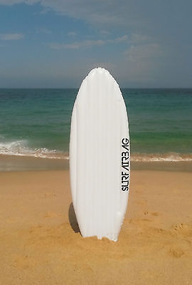 Inflatable Blow Up White  Surfboard