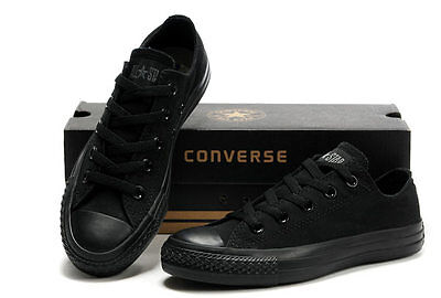 Converse All Star Black Low Tops