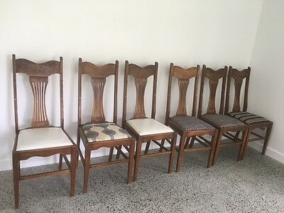 Antique Timber chairs - set of 6