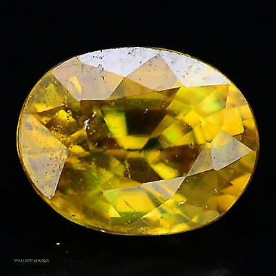 1.46 Ct Aaa! Natural! Yellow/green Congo Sphene Oval